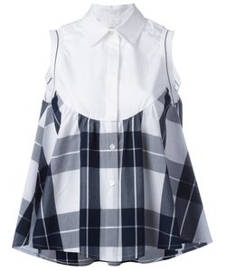 I'm Isola Marras | Checked Ruffled Shirt 42 Cotton/Viscose/Polyester
