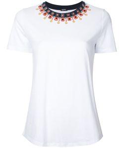 Jil Sander Navy | Embellished Neck T-Shirt Size Small