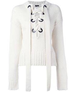 Joseph | Lace Up Jumper Small Cashmere