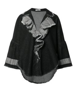 TOME | Denim Ruffled Jacket Small Cotton