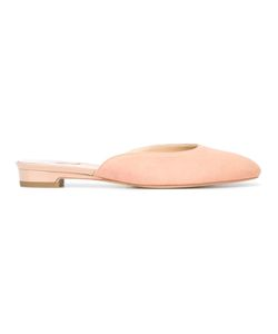 Paul Andrew | Round Toe Mules 41 Suede/Leather