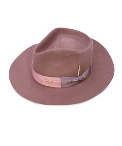 NICK FOUQUET   Side Bow Fedora Hat