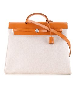 Hermès Vintage | Her Mm Two-In-One Toile Bag