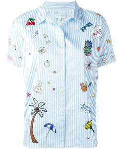 Mira Mikati | Embroidered Patch Shirt Size 38