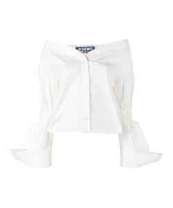 JACQUEMUS | Off-Shoulder Shirt Womens Size 42 Cotton