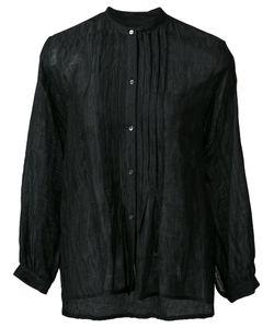 Nili Lotan   Band Collar Shirt Large Cotton/Silk