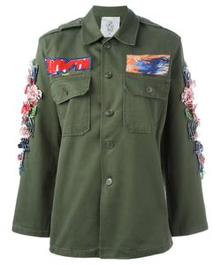 Night Market | 3d Hibiscus Military Jacket Cotton