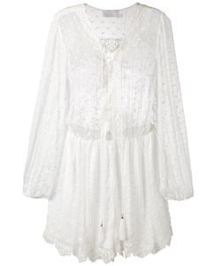 Zimmermann | Dots Sheer Playsuit 3 Silk/Cotton