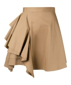 MSGM | Ruffled Front Skirt 40 Cotton