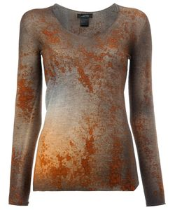 Avant Toi | Rusty Effect Jumper Large Cashmere/Polyester/Silk
