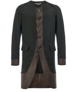 COMME DES GARCONS HOMME PLUS | Comme Des Garçons Homme Plus Checked Curved Hem Coat
