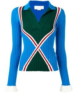 ESTEBAN CORTAZAR | Ribbed Collar Jumper Size 36