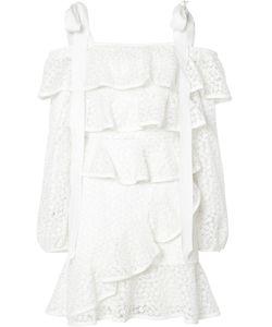 Rebecca Vallance | Farina Ruffle Mini Dress 6 Polyester/Spandex/Elastane/Nylon