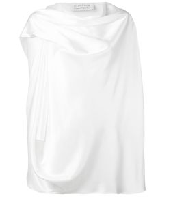 Gianluca Capannolo | Draped Neck Blouse 44 Triacetate/Polyester