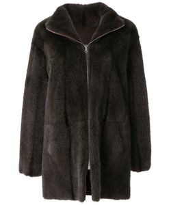 Liska | Long Sleeved Zipped Up Coat Women Mink