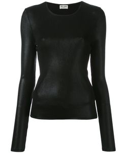 Saint Laurent | Ribbed Lamé Top