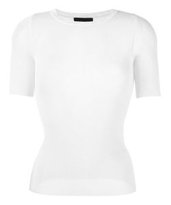 Emporio Armani | Ribbed Knitted Top 40 Viscose/Polyester