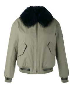 ARMY YVES SALOMON | Raccoon Fur-Trimmed Bomber Jacket