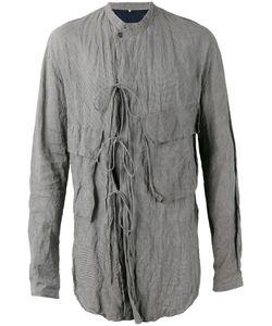 ZIGGY CHEN | Tie Detail Crinkled Shirt Size Medium