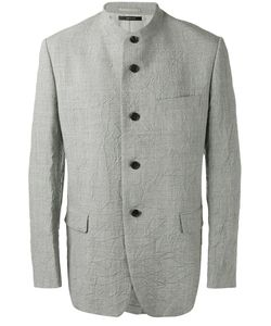 Issey Miyake | Buttoned Jacket 2 Linen/Flax/Wool/Cupro