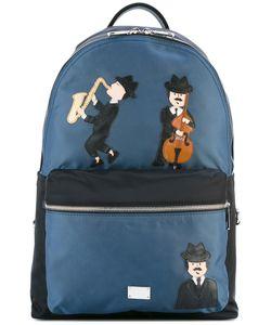 Dolce & Gabbana | Volcano Sicilian Musicians Patch Backpack Polypropylene/Leather