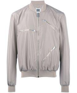 Les Hommes Urban | -Zippers Bomber Jacket 50 Polyester/Spandex/Elastane/Cotton