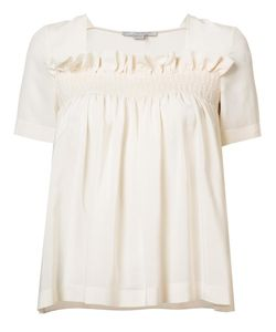 Stella Mccartney | Ruffle Detail Blouse 40 Silk