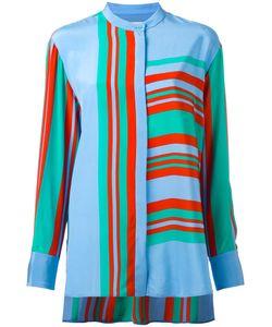 Diane Von Furstenberg | Striped Blouse Large
