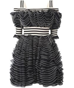 Alexander McQueen | Ruffle Mini Dress 44 Viscose/Polyester/Polyamide/Silk