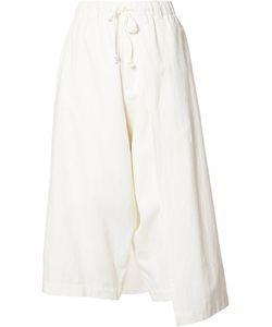 Y'S   Left Wrap Trousers Size 2 Cotton/Linen/Flax