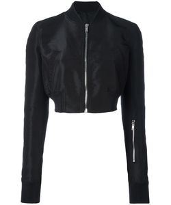 Rick Owens | Glitter Cropped Bomber Jacket 40 Silk/Polyester/Cupro/Virgin