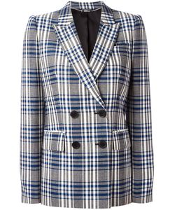 Alexander McQueen | Check Double Breasted Blazer 42 Virgin
