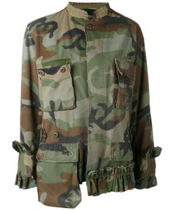 Erika Cavallini | Frilled Camouflage Jacket