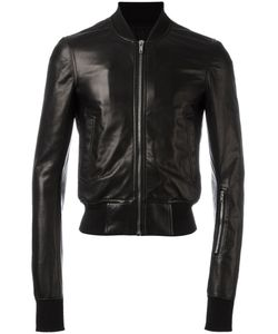 Rick Owens | Cropped Bomber Jacket 50 Leather/Cotton