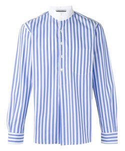 Andrea Pompilio | High Neck Striped Shirt Size 50