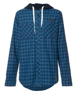 Prps   Checked Buttoned Hoodie Medium Cotton