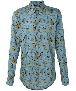Dolce & Gabbana | Рубашка С Принтом Музыкальных Инструментов