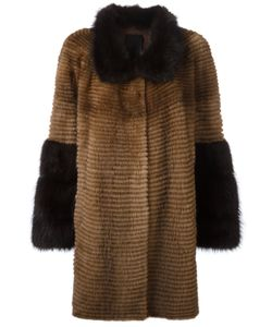 Liska | Two-Tone Coat 4 Mink Fur/Cashmere