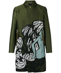 OAMC | Illustrated Trench Coat Large Silk/Polyester/Cotton/Lamb Skin
