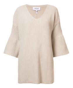 Derek Lam 10 Crosby | V-Neck Knitted Blouse Large