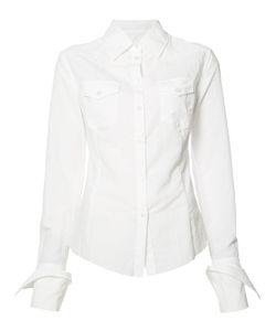 Marques Almeida   Marquesalmeida Folded Cuffs Shirt Medium Polyamide