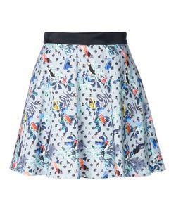 LOVELESS | Bird Print Skirt 34 Cotton/Polyurethane
