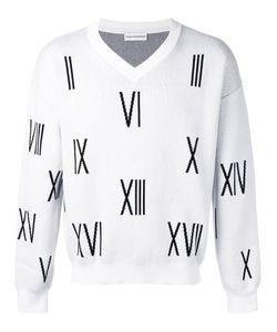 GOSHA RUBCHINSKIY | V-Neck Numbers Sweater Size Small