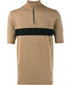 Johnlawrencesullivan | Stripe Zip Top Small Rayon/Nylon/Polyurethane