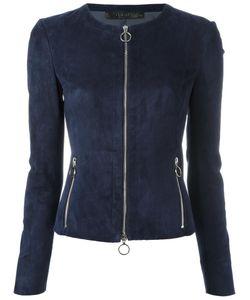 Drome | Suede Zip Jacket Large Lamb Skin/Viscose/Polyester