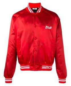 Gcds | Logo Print Bomber Jacket Size Large