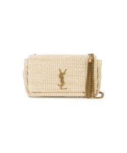 Saint Laurent | Woven Monogram Shoulder Bag