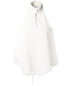 Marques Almeida | Marquesalmeida Fringed Asymmetric Top Xs Cotton