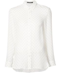 Jenni Kayne | Crepe Polka Dot Shirt Small Silk