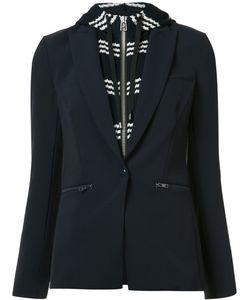 Veronica Beard | Laye Hooded Blazer 4 Cotton/Polyester/Spandex/Elastane
